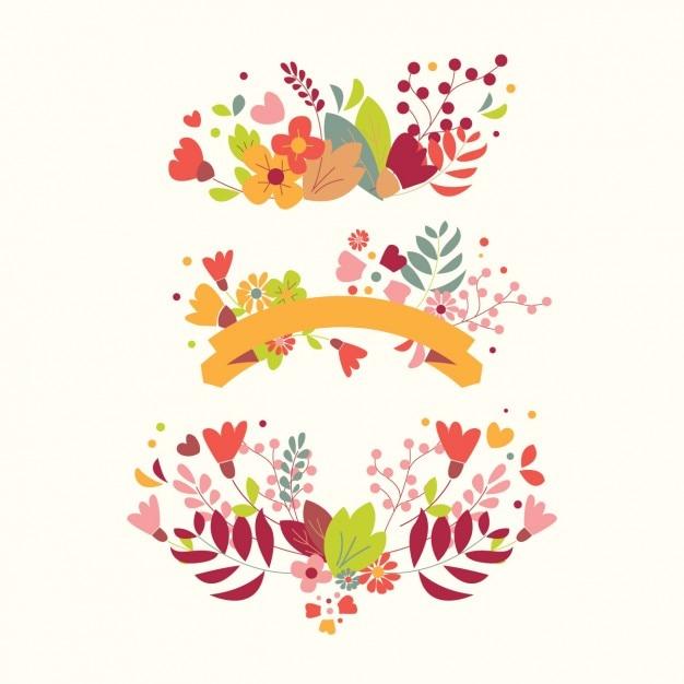 Decorative Floral Elements Vector Free Download
