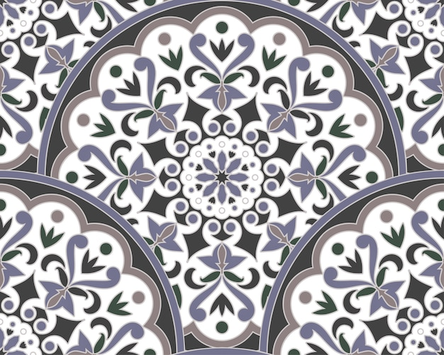 Decorative floral mandala pattern malaysia and indian style Premium Vector