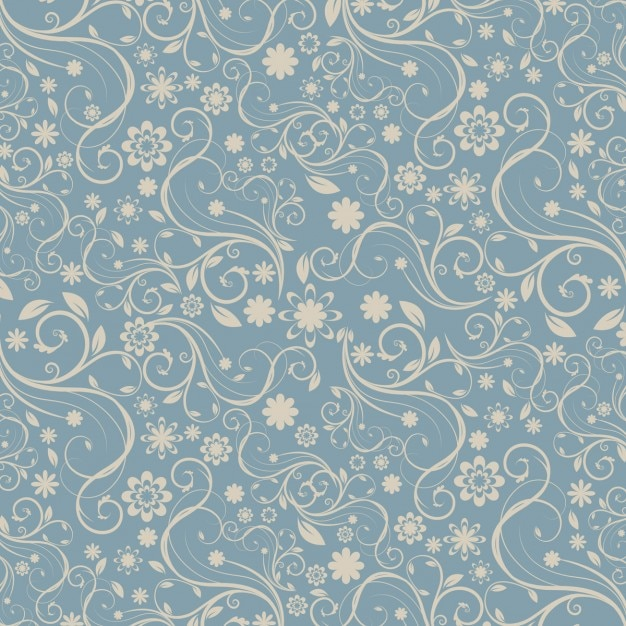 Decorative floral pattern Free Vector
