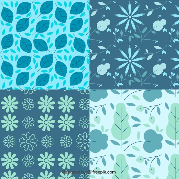 Decorative floral patterns Free Vector