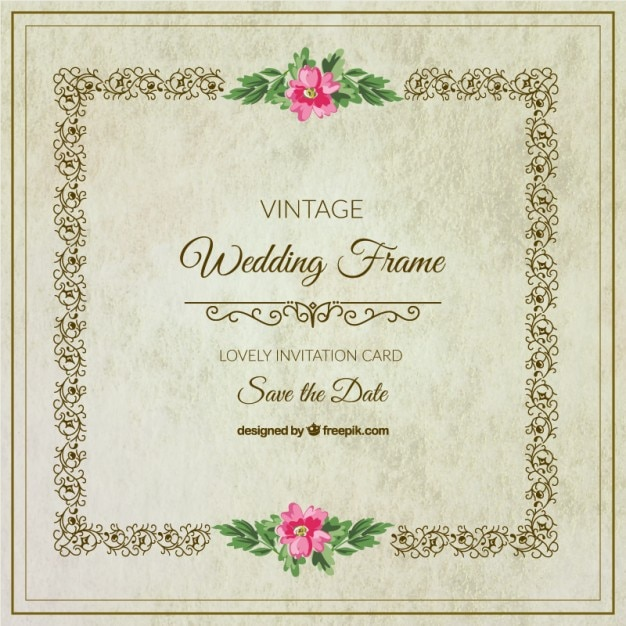 Decorative floral wedding frame vector free download decorative floral wedding frame free vector junglespirit Gallery