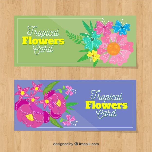 Decorative flower cards