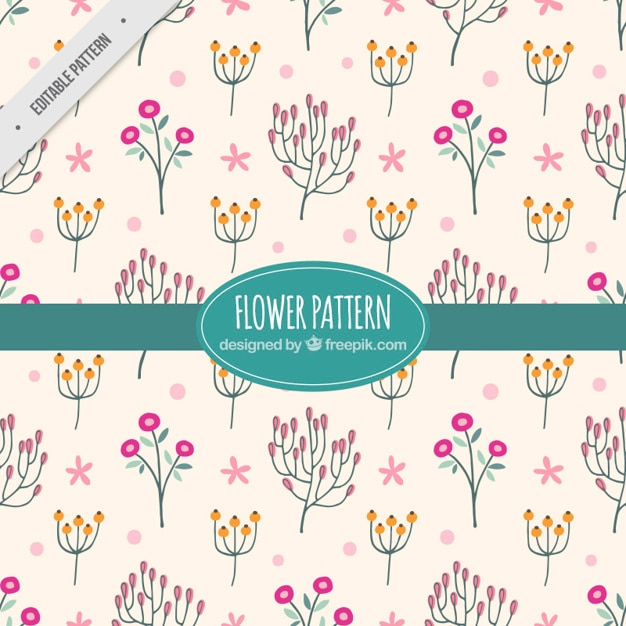 Decorative flower pattern with pink\ background