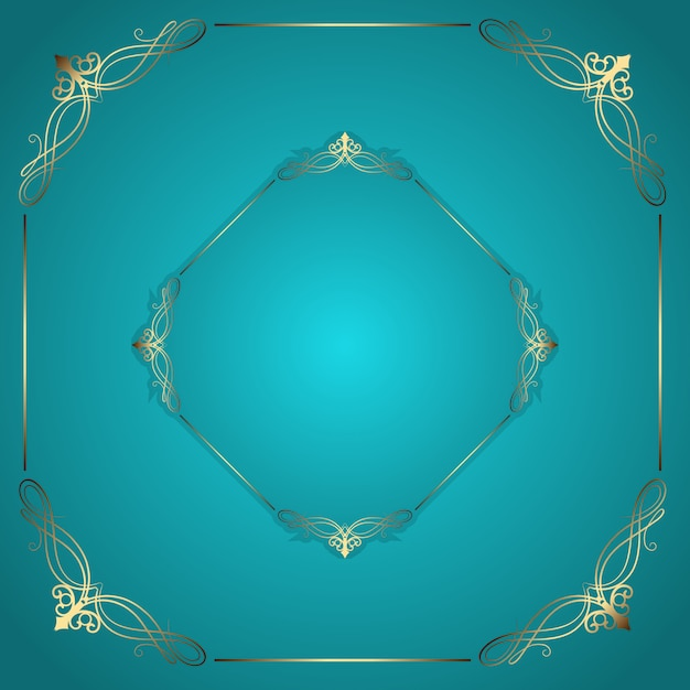 Decorative frame background Free Vector