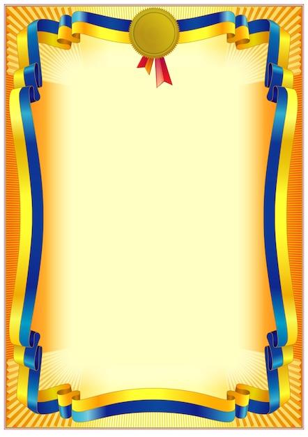 Decorative frame border template for diplomas or certificates Premium Vector