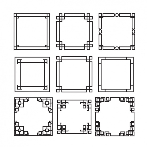 Decorative frames collection Free Vector