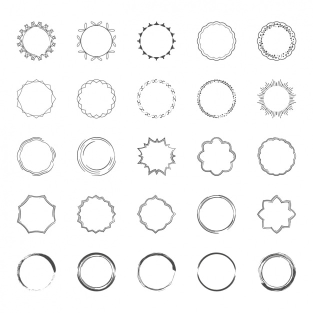 decorative frames collection free vector - Decorative Frames