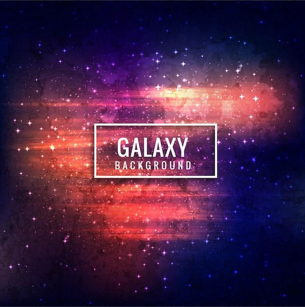 Decorative galaxy background Premium Vector