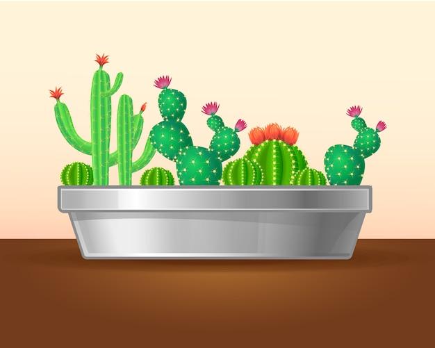 装飾的な緑の植物の概念 無料ベクター