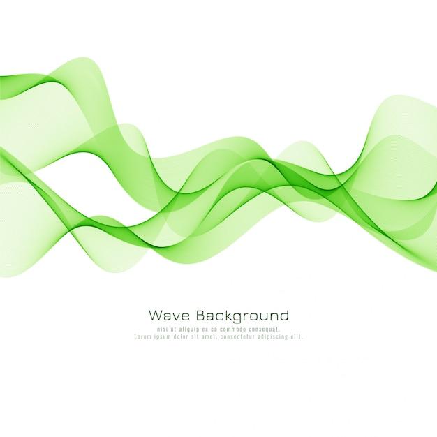 Decorative green wave elegant background vector Free Vector
