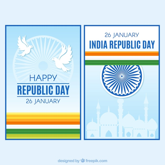 Decorative greeting cards for indian republic day vector free download decorative greeting cards for indian republic day free vector m4hsunfo