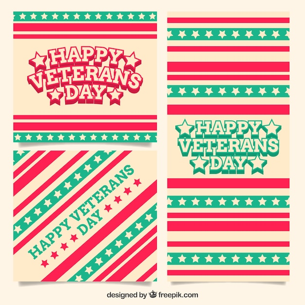 Decorative greeting veterans day cards