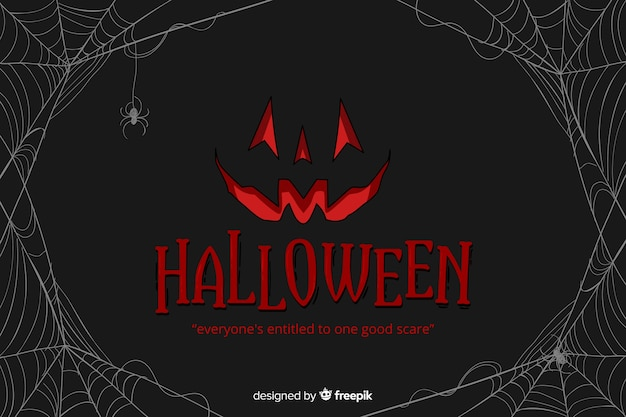 Decorative halloween background flat style Free Vector