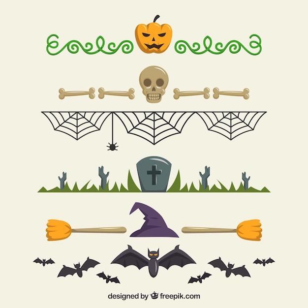 Decorative halloween borders pack Vector | Free Download