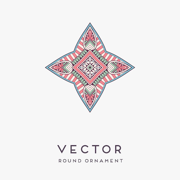 Decorative hand drawn mandala illustration Free Vector