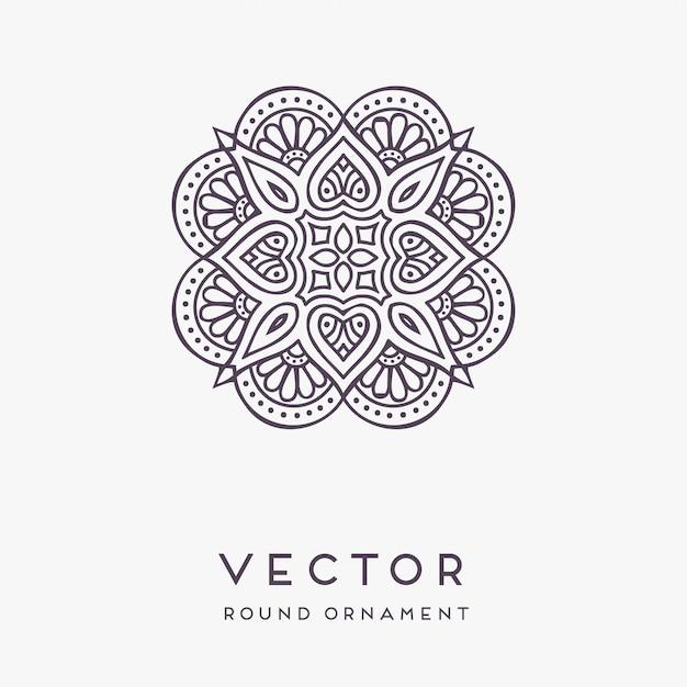 Decorative hand drawn mandala illustration Free Vector