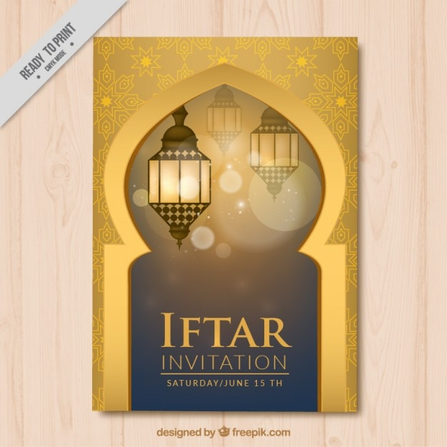 Decorative iftar invitation vector free download decorative iftar invitation free vector stopboris Images