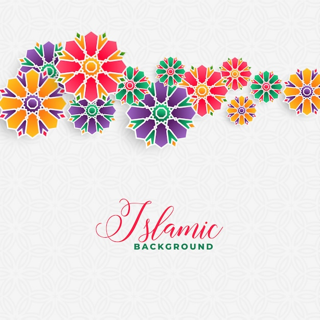 Decorative islamic background design Free Vector