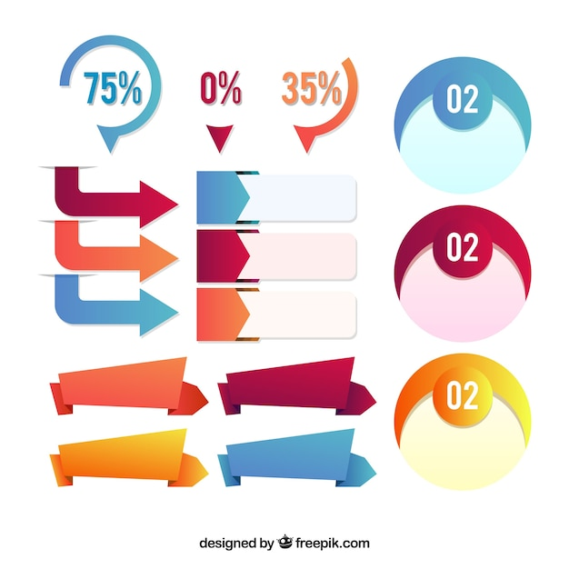 Decorative items ready for infographics Free Vector