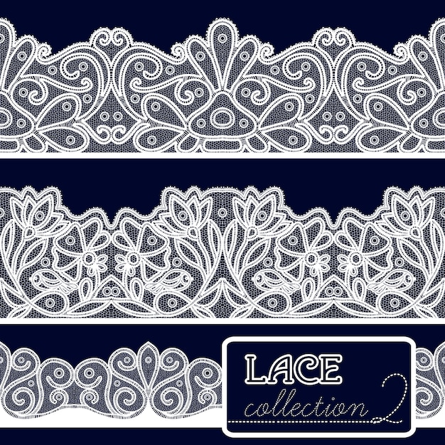 Decorative lace set Free Vector