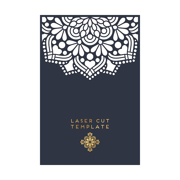 Decorative laser cut template Vector | Free Download