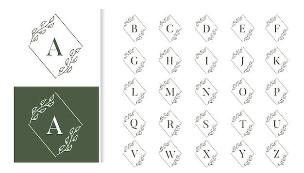 Набор декоративных роскошных свадебных вензелей с логотипом Premium векторы