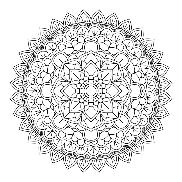 Decorative Mandala Design Background Vector Free Download