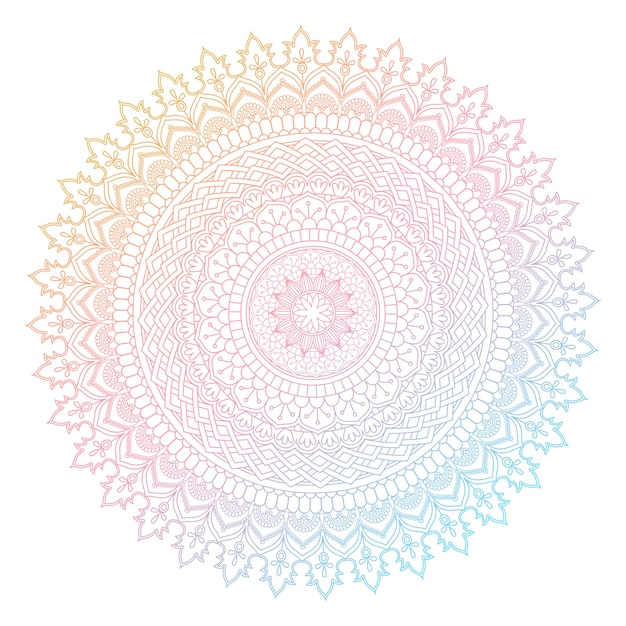 decorative mandala design with pastel colours vector free download