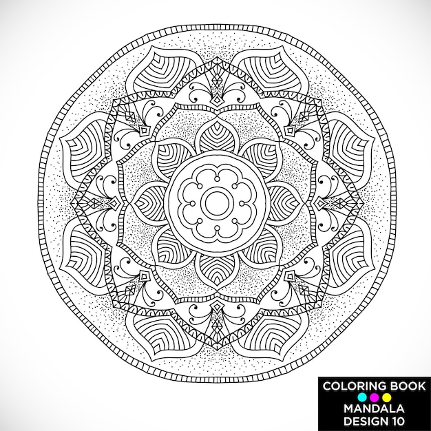 Colouring Book Free Download Software Decorative Mandala For Coloring Vector