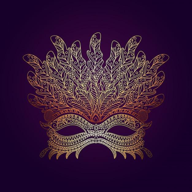 Decorative mask in hand-drawn style Premium Vector