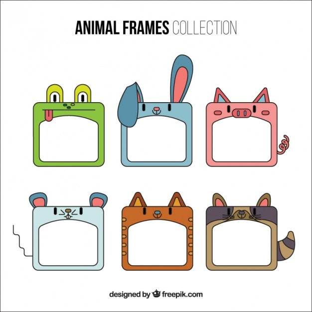 Decorative nice animal frames Vector | Free Download