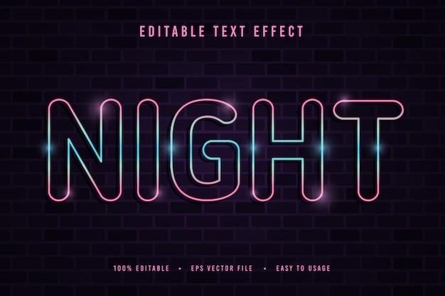 장식적인 밤 글꼴 프리미엄 벡터