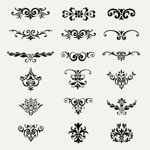 decorative ornaments collection vector