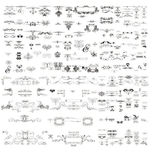 Decorative ornaments collection Premium Vector