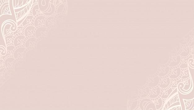 Sfondo decorativo color pastello con design etnico Vettore gratuito