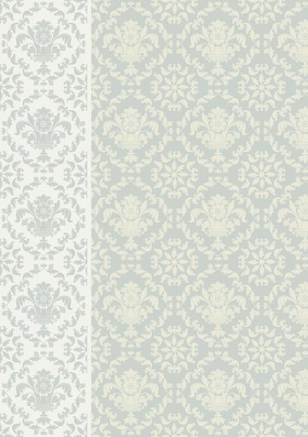 Decorative pattern floral Premium Vector