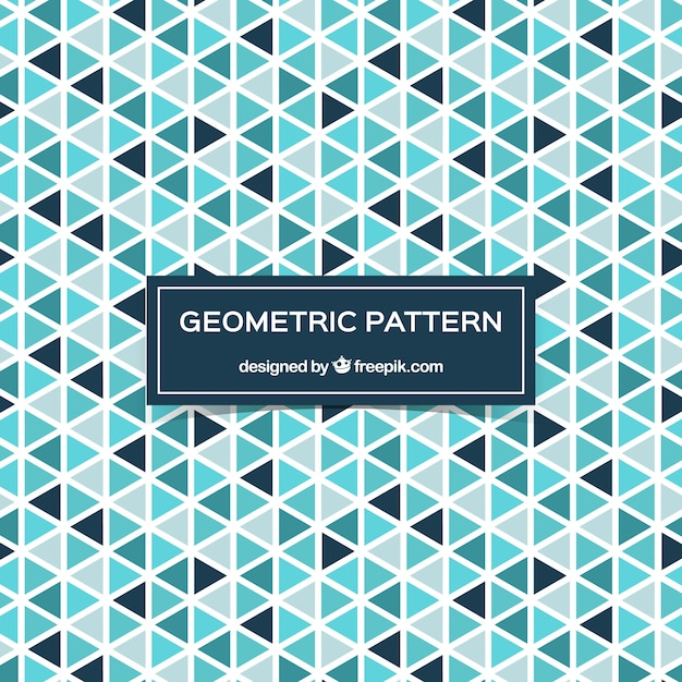 Decorative pattern of triangles Free Vector