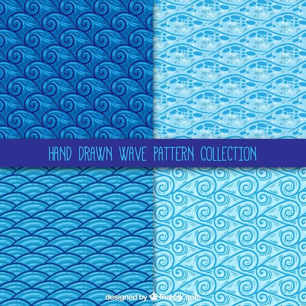 الگوهای تزئینی مجموعه ای از امواج