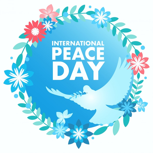 Decorative peace symbol for international day of peace Premium Vector