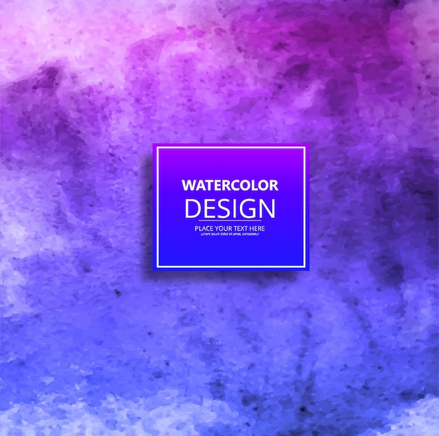 Decorative purple and blue watercolor background