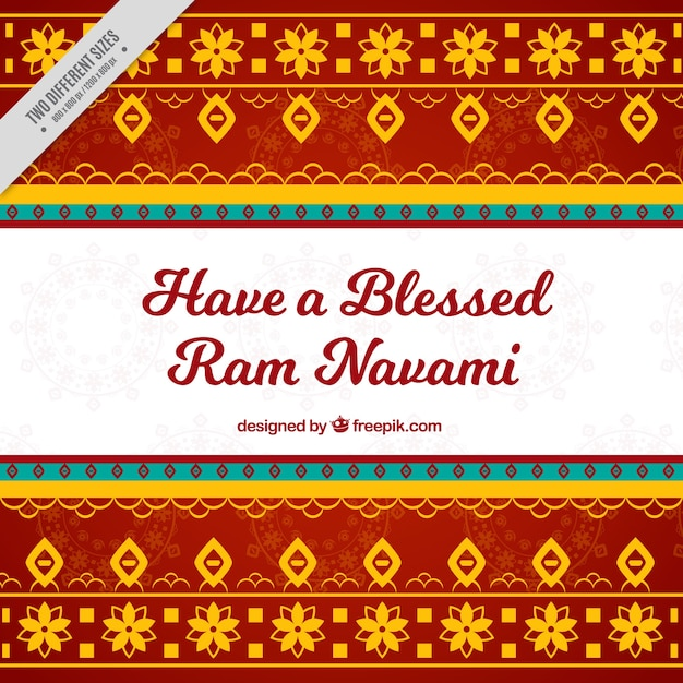 Decorative ram navami background