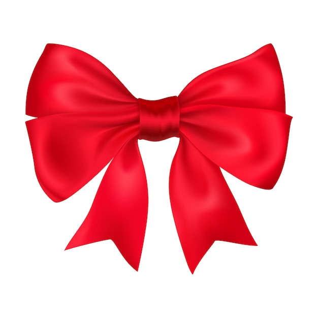 Decorative red bow Free Vector