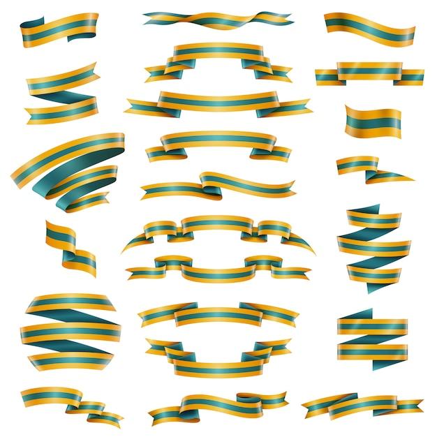 Decorative ribbons set Free Vector