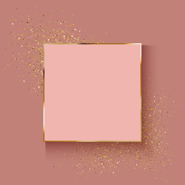 Decorative Rose Gold Background With Glitter Effect Vector Premium