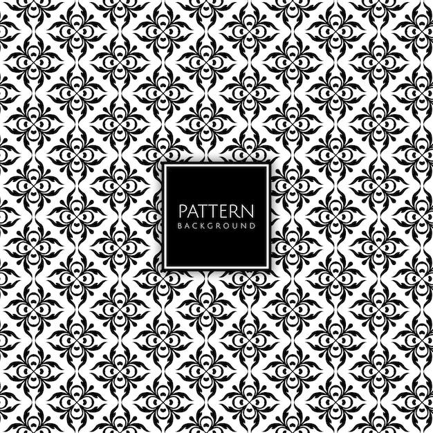 装飾的なシームレスなタイルパターンデザインの背景 無料ベクター