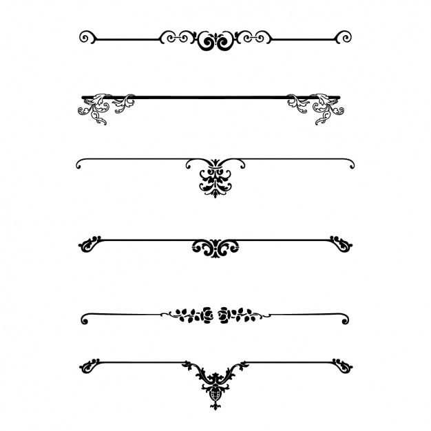 Decorative separators collection Free Vector