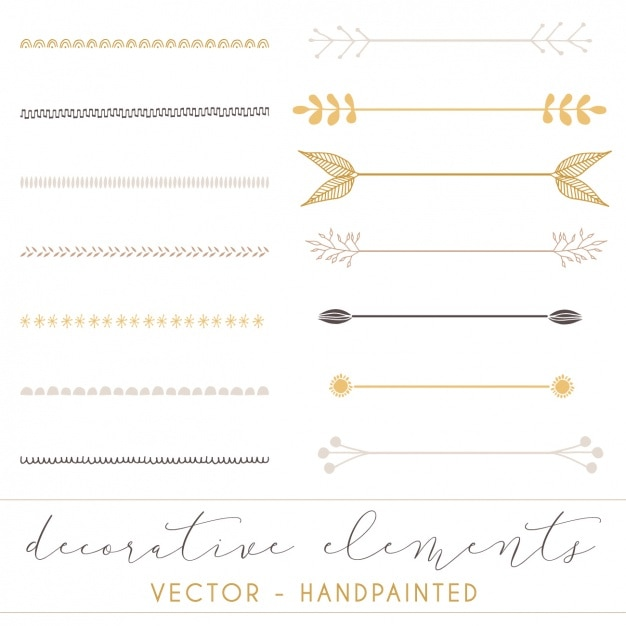 Decorative separators collection Free Vector