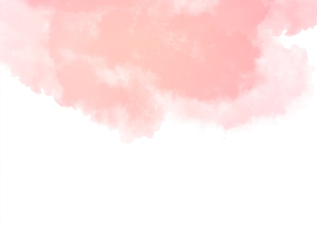 Decorative soft pink watercolor texture background vector Free Vector