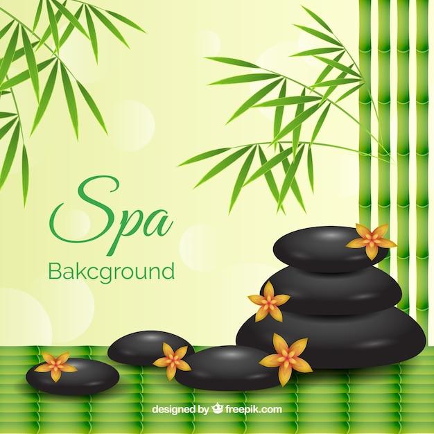 Decorative spa background Free Vector