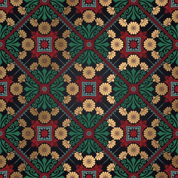 Decorative tile pattern design. vector illustration. Free Vector